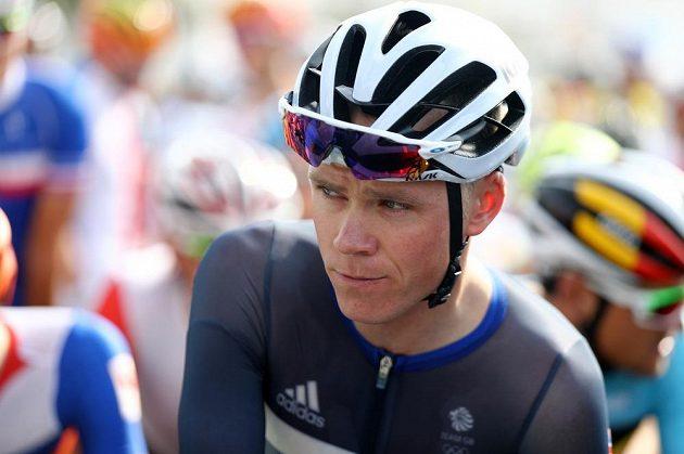 Vítěz Tour de France Christopher Froome z Velké Británie na startu olympijského závodu.
