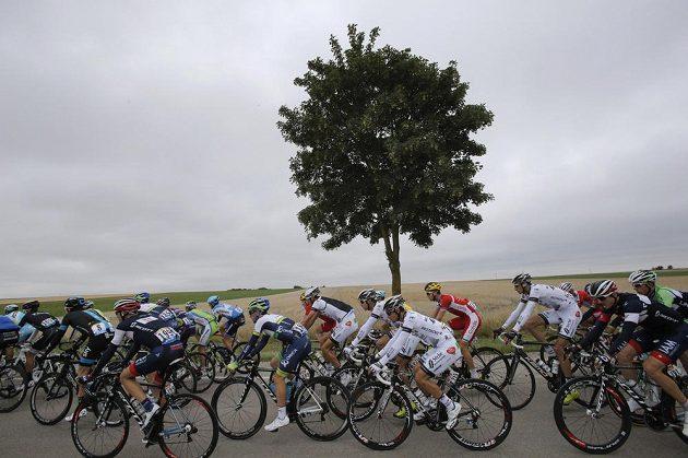 Cyklisté na trati sedmé etapy Tour de France vedoucí z Épernay do Nancy.