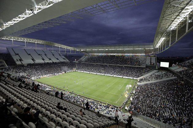 Arena Corinthians v Sao Paulu hostí zahajovací duel mezi Brazílií a Chorvatskem.