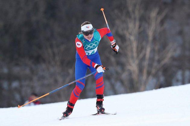 Petra Nováková při závodě na 10 km volně.