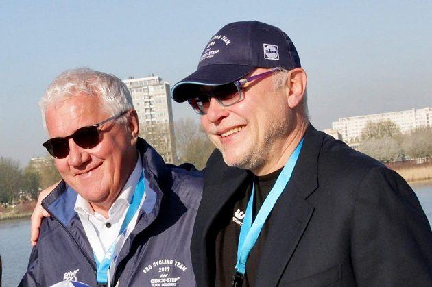 Zdeněk Bakala (vpravo) a Patrik Lefevere, šéf cyklistického týmu Quick Step.