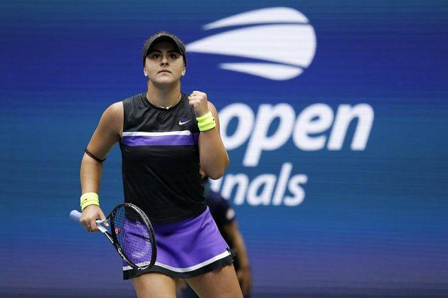 Bianca Andreescuová ve finále US Open.