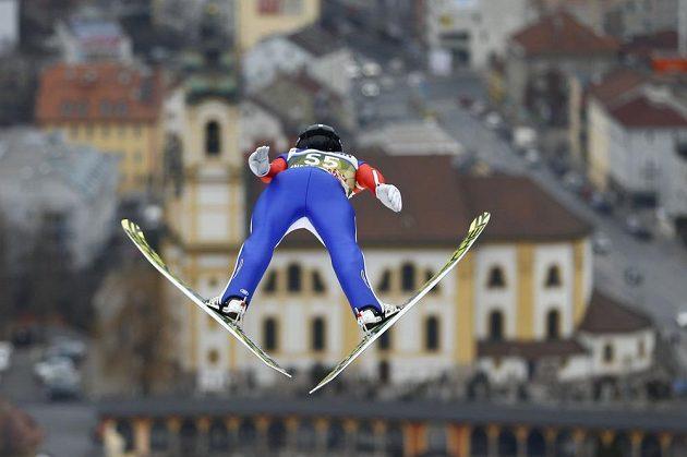 Roman Koudelka při zkušebním kole v Innsbrucku.