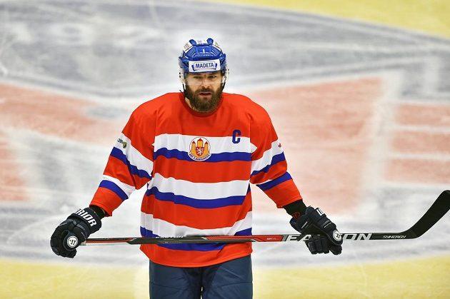 Zdeněk Kutlák z Českých Budějovic při utkání s Karlovými Vary.