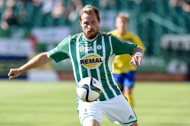 Nová posila Bohemians Tomáš Čížek během utkání 1. kola Synot ligy proti Zlínu.