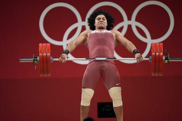 Vzpěrač Fáris El-Bach vyhrál v Tokiu soutěž v kategorii do 96 kg