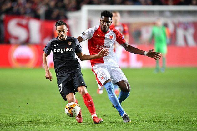Slavia bojovala o postup do čtvrtfinále Evropské ligy se Sevillou