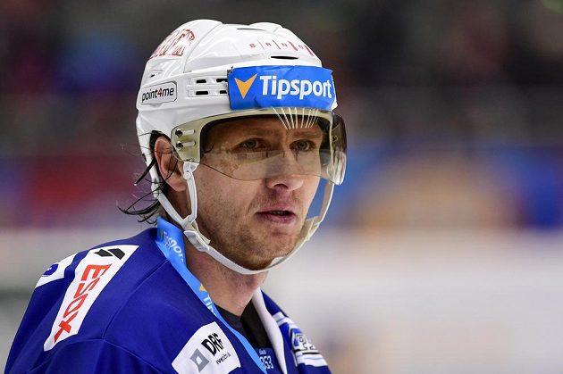 Martin Erat z Brna ve čtvrtfinále play off hokejové extraligy.