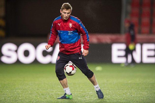 Jakub Brabec během tréninku národního týmu.