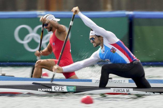 Martin Fuksa (vpravo) a Kubánec Fernando Dayan Jorge Enriquez v semifinále.