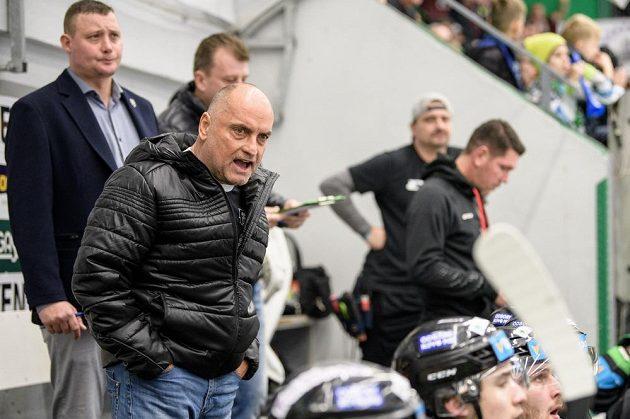 Trenér Mladé Boleslavi Vladimír Kyhos během utkání se Spartou.