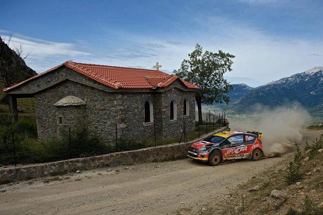 Martin Prokop na trati Akropolis rallye.