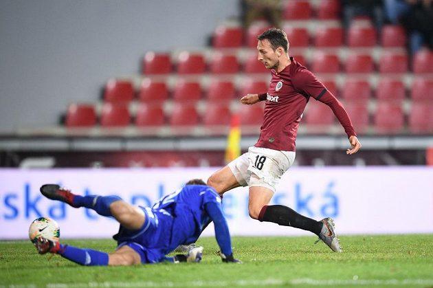 Třetí gól sparťanského útočníka Libora Kozáka v utkání proti Karviné.