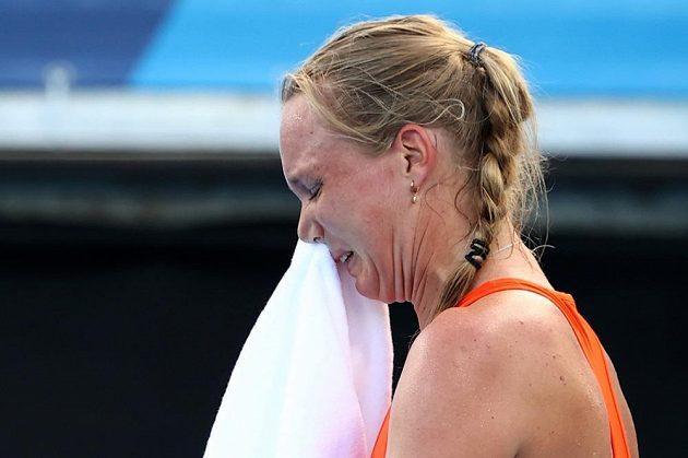 Kiki Bertensová svůj poslední zápas a porážku s Markétou Vondroušovou oplakala