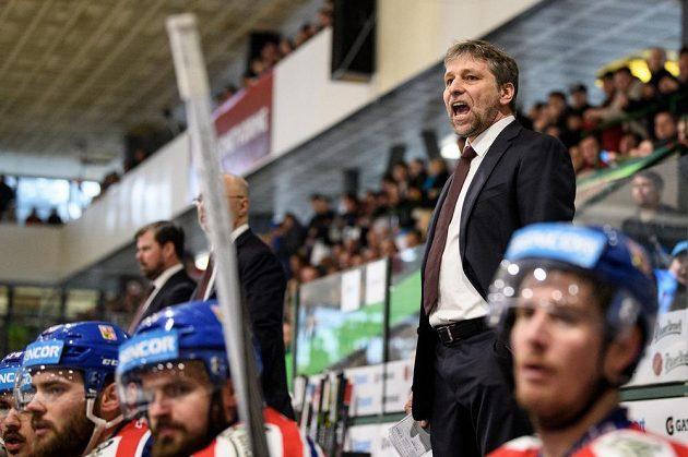Trenér hokejové reprezentace Josef Jandač během utkání Euro Hockey Challenge, proti Švýcarsku.