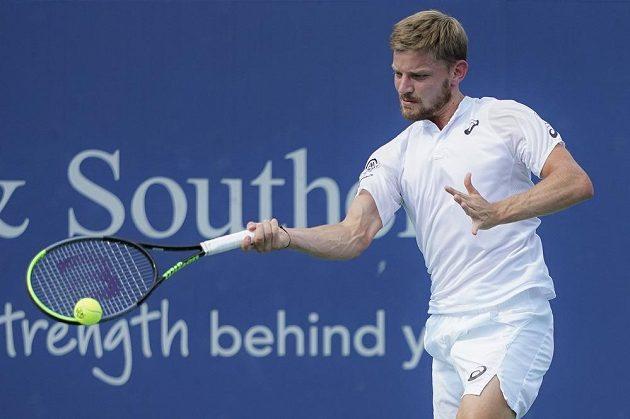 Belgický tenista David Goffin v akci.