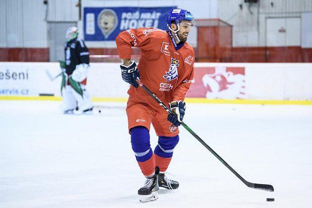 Michal Moravčík během tréninku hokejové reprezentace před turnajem Beijer Hockey Games.