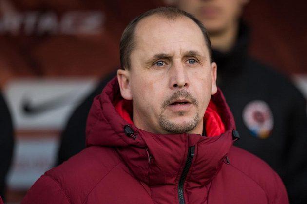 Trenér Sparty Praha Zdeněk Svoboda během utkání s Teplicemi.
