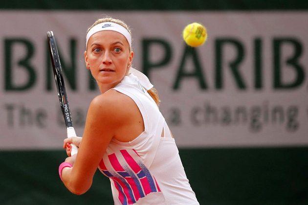 Petra Kvitové během semifinále French Open.