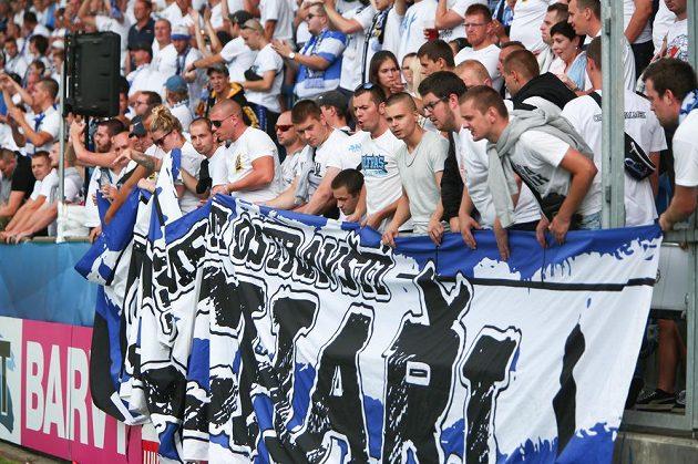 Fanoušci Baníku ve velkém počtu dorazili i do Uherského Hradiště.