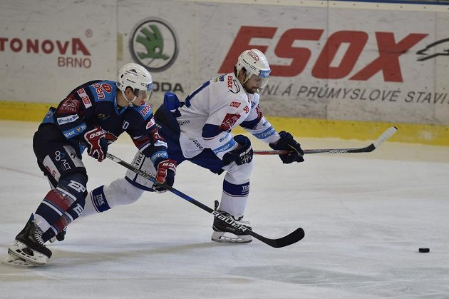 Z utkání Brno - Chomutov.