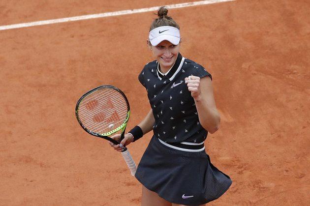 Markéta Vondroušová v semifinálovém zápase s Kontaovou