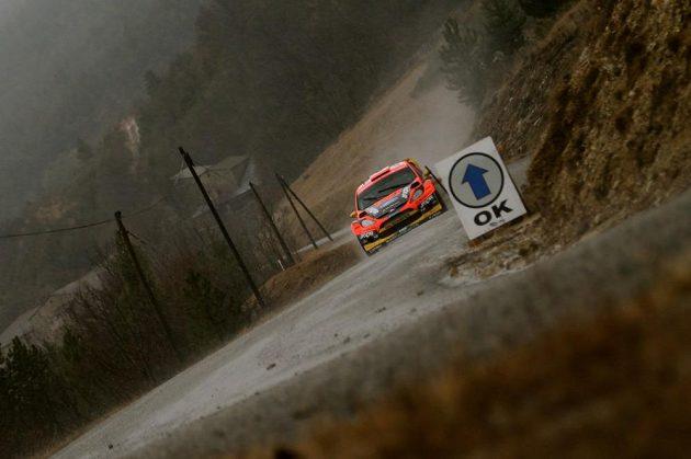 Martin Prokop s Fordem Fiesta WRC při testech.