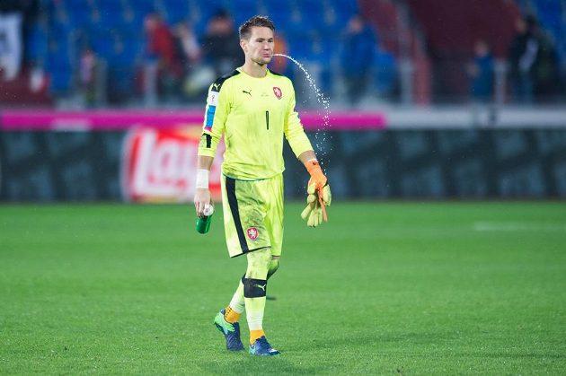 Český brankář Tomáš Vaclík po utkání s Ázerbájdžánem.