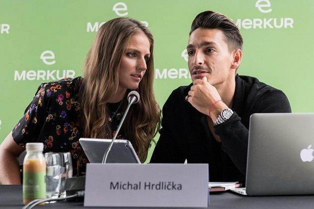 Karolína Plíšková a její partner Michal Hrdlička.