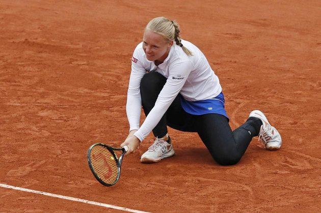 Nizozemská tenistka Kiki Bertensová v semifinále French Open.