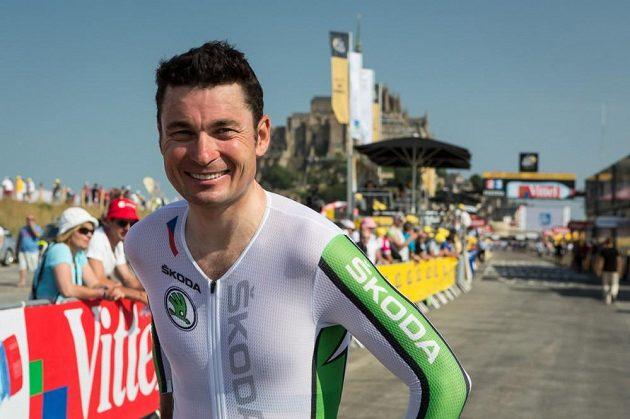 Spokojený paralympik Jiří Ježek po časovce Tour de France.