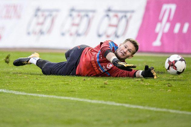 Tomáš Vaclík během tréninku fotbalové reprezentace.
