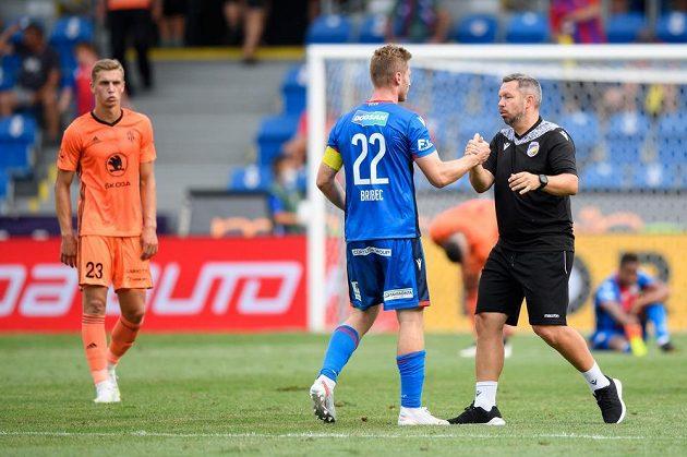 Jakub Brabec z Viktorie Plzeň a trenér Pavel Horváth.
