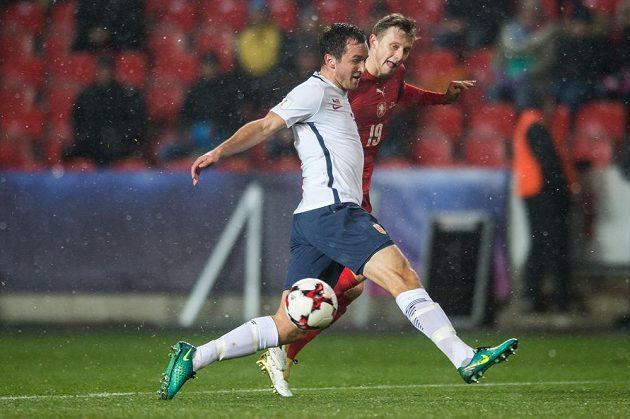 Ladislav Krejčí a jeho přihrávka na gól Michala Krmenčíka během utkání s Norskem.