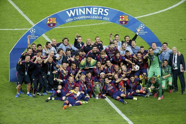 FC Barcelona - vítěz Ligy mistrů 2014/2015.