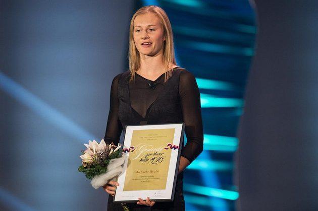 Talent roku, atletka Michaela Hrubá během vyhlášení ankety Sportovec roku 2016 v hotelu Hilton v Praze.