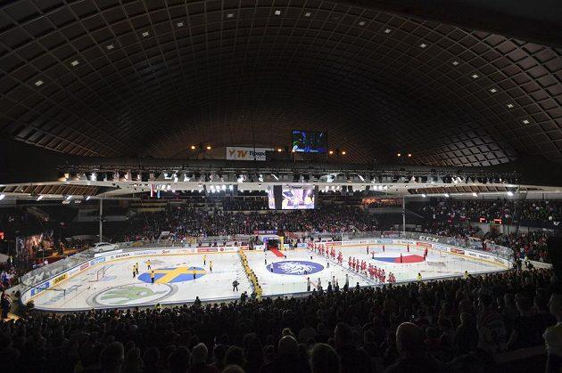 Slavnostní ceremoniál před začátkem zápasu.