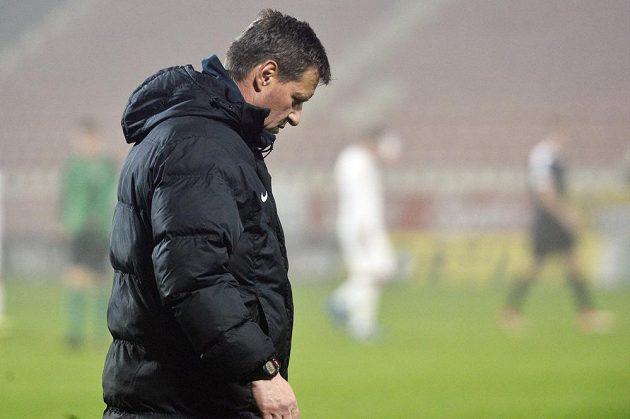 Trenér Příbrami Josef Csaplár po zápase se Slováckem.