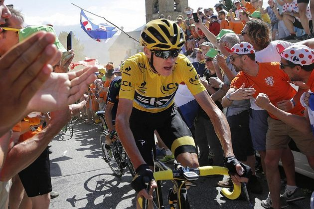 Britský cyklista Chris Froome během 20. etapy Tour de France.