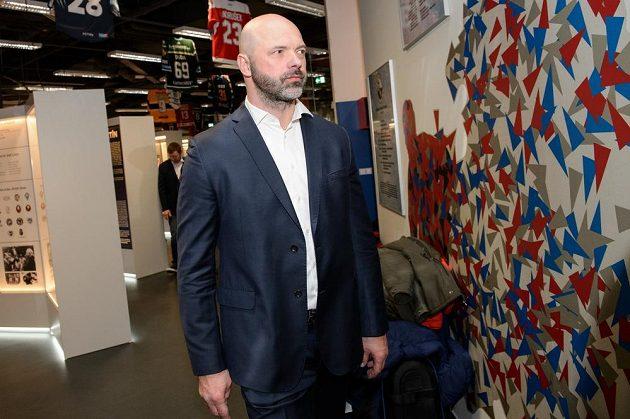 Jiří Dopita z olympijského hokejového týmu z Nagana během setkání dne 5. února 2018 v Praze.