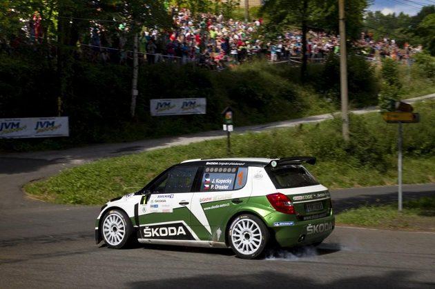 Jan Kopecký s vozem Škoda Fabia S2000 na Rallye Bohemia.