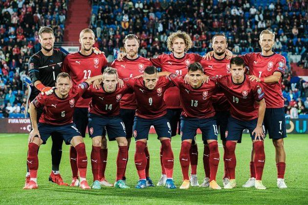Český tým před zápasem s Běloruskem.