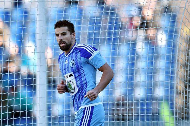 Boleslavský útočník Milan Baroš během utkání s Baníkem.