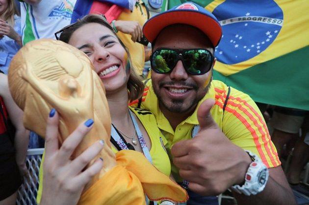 Fanoušci Brazílie v ulicích na MS v Rusku.