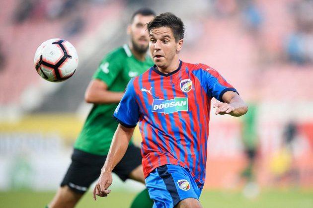 Aleš Čermák z Viktorie Plzeň během utkání Fortuna ligy proti Příbrami.