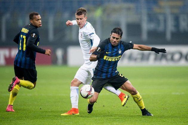 Lukáš Mareček ze Sparty Praha a Éder z Interu Milán.
