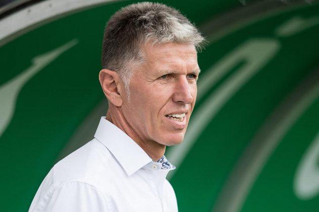 Trenér Slavie Jaroslav Šilhavý během utkání s Bohemkou.