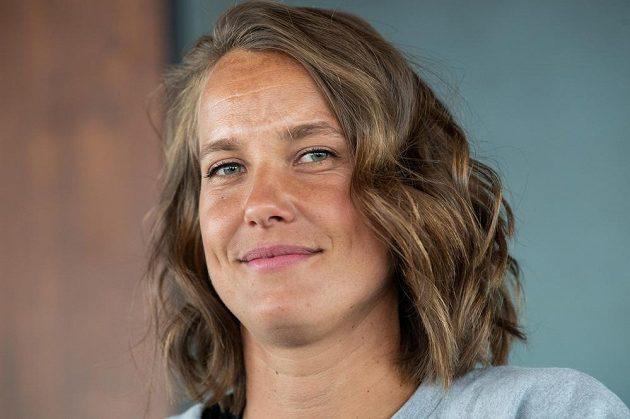 Úspěšná česká tenistka Barbora Strýcová po návratu z Wimbledonu.