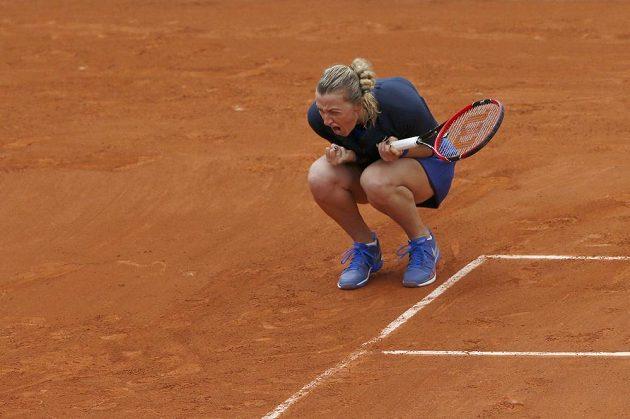 Petra Kvitová měla z postupu do druhého kola French Open velkou radost.