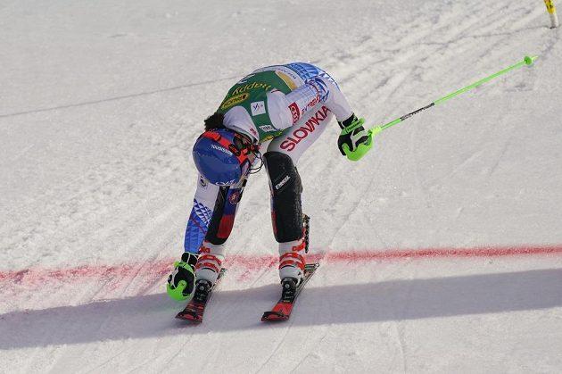 Je v cíli. Slovenská lyžařka Petra Vlhová vyhrála slalom Světového poháru v Kranjské Goře.